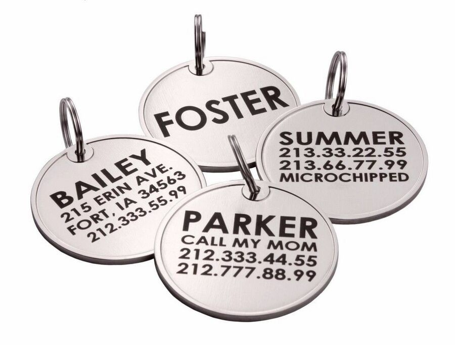 Personalized Dog Id Tag Custom Engraved Pet Name Enamel Tags For