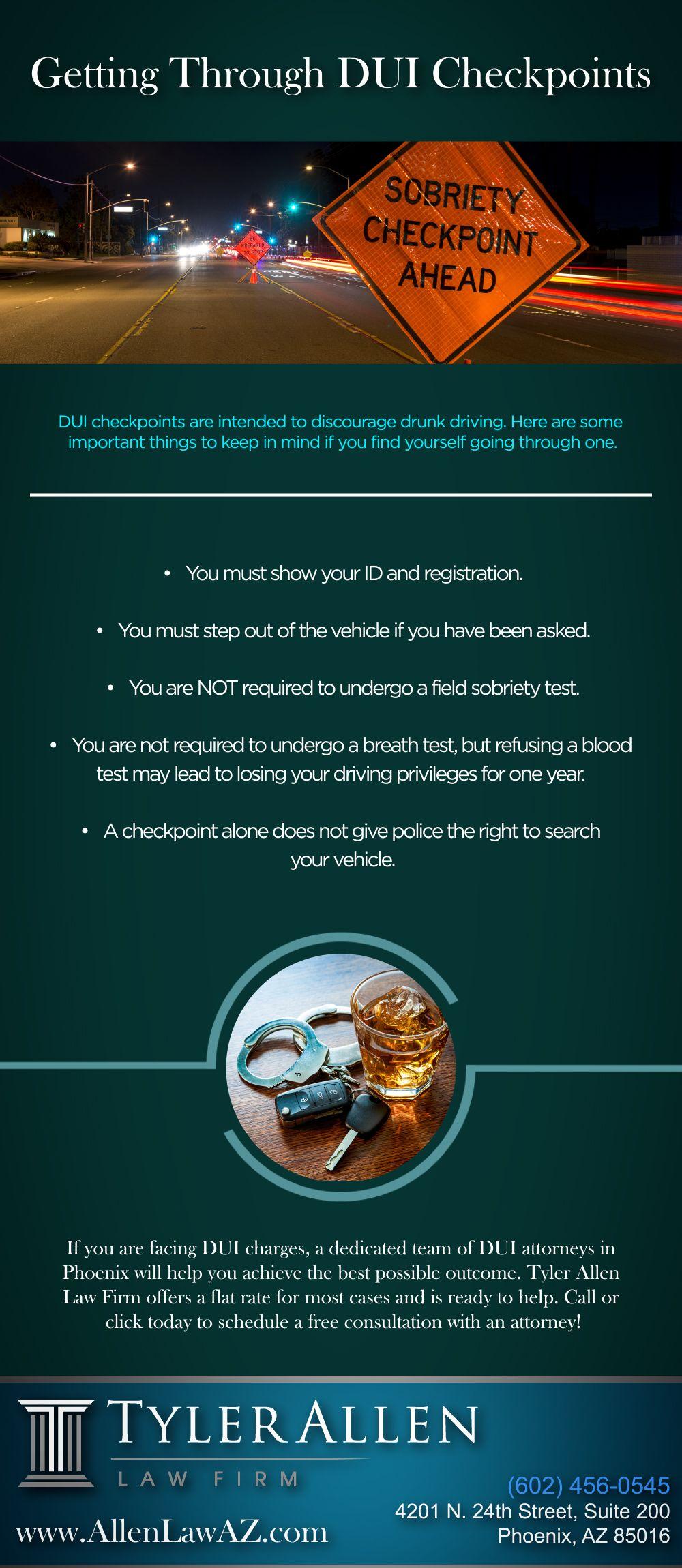 Getting through dui checkpoints dui law firm dui lawyer
