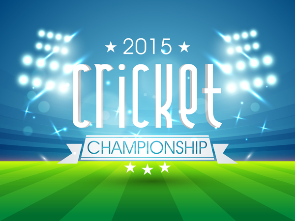 Cricket World Cup 2015 Company Profile Design Cricket World Cup Ppt Template Design