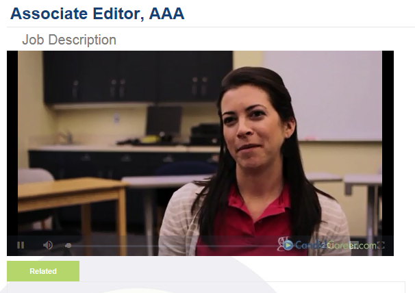 Katie Broome 09 is an associate editor with AAA Whether writing – Associate Editor Job Description