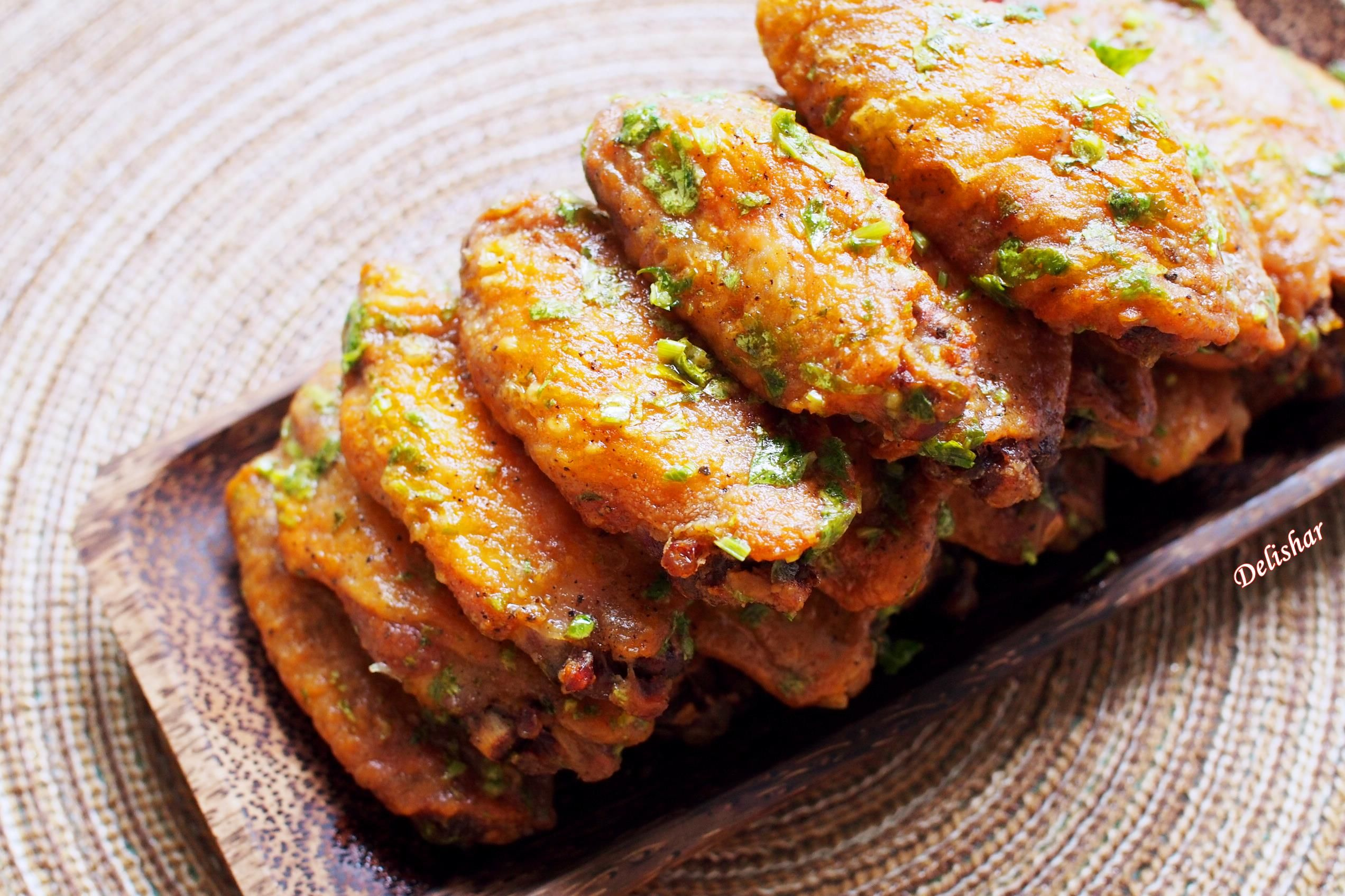 Perfectly Baked Crispy Lime Cilantro Wings