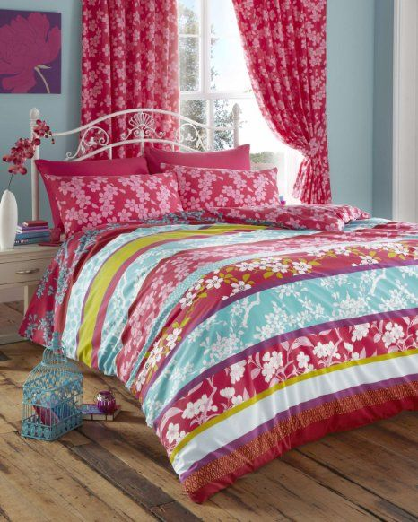 Super King Size Duvet Cover Set Pink Teal Oriental Flowers Amazon Co Uk Kitchen Home King Size Duvet Covers Duvet Cover Sets King Size Duvet
