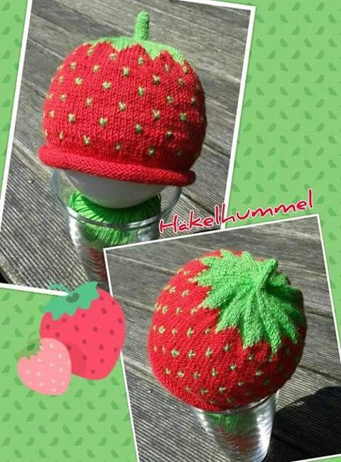 Süße Kids Erdbeer Mütze Stricken Mütze Stricken Mütze Und