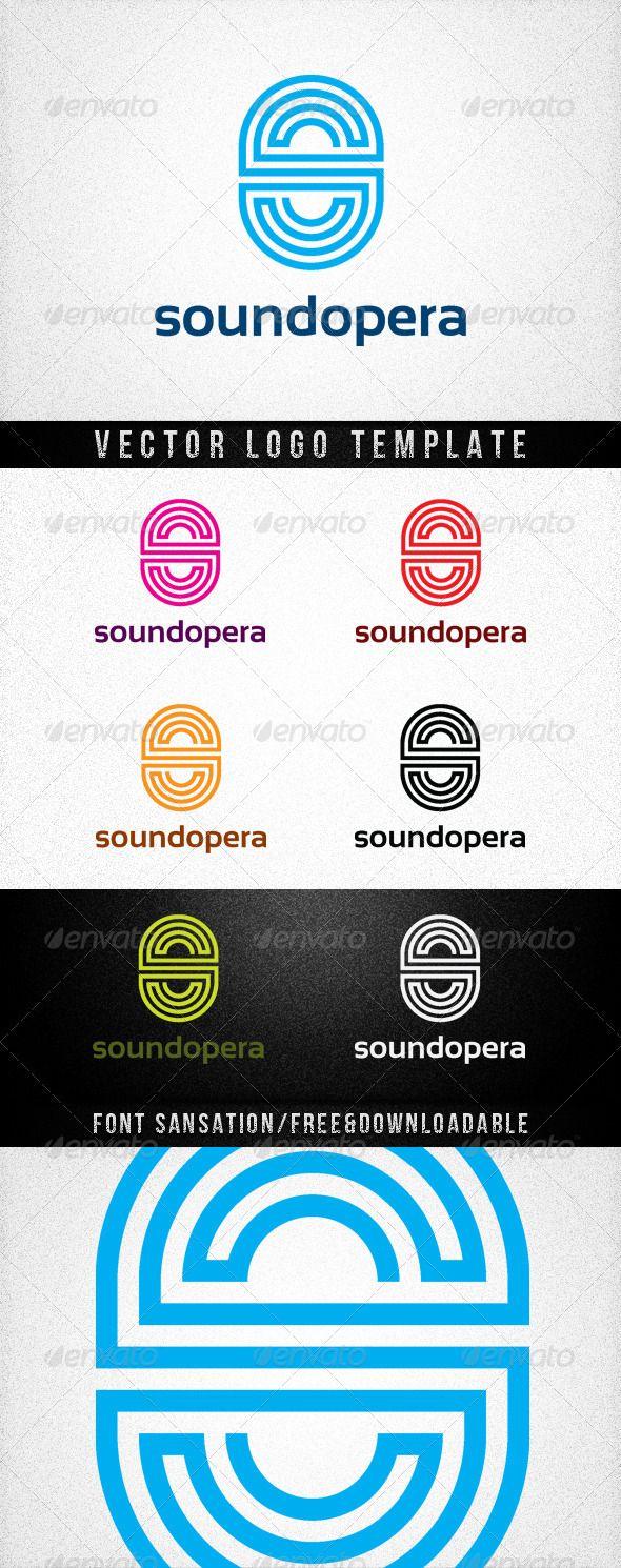 SOUNDOPERA — Vector EPS #green #letter • Available here → https://graphicriver.net/item/soundopera/677899?ref=pxcr