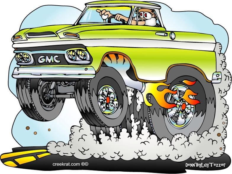 Hot Rod Cartoons Creekrat Cartoons Cool Cars Automotive Artwork