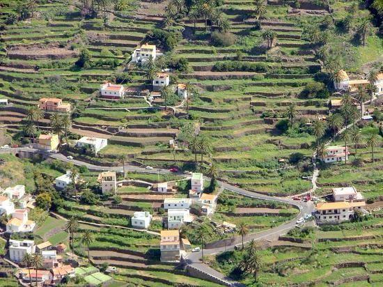 Canarias Cultivo En Terrazas En La Isla De La Gomera Islas