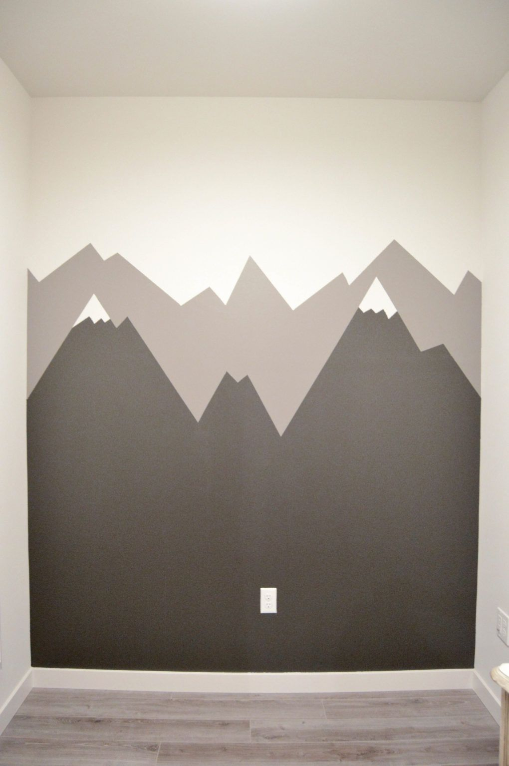 How To Paint A Mountain Mural Mountain Mural Kids Room Paint