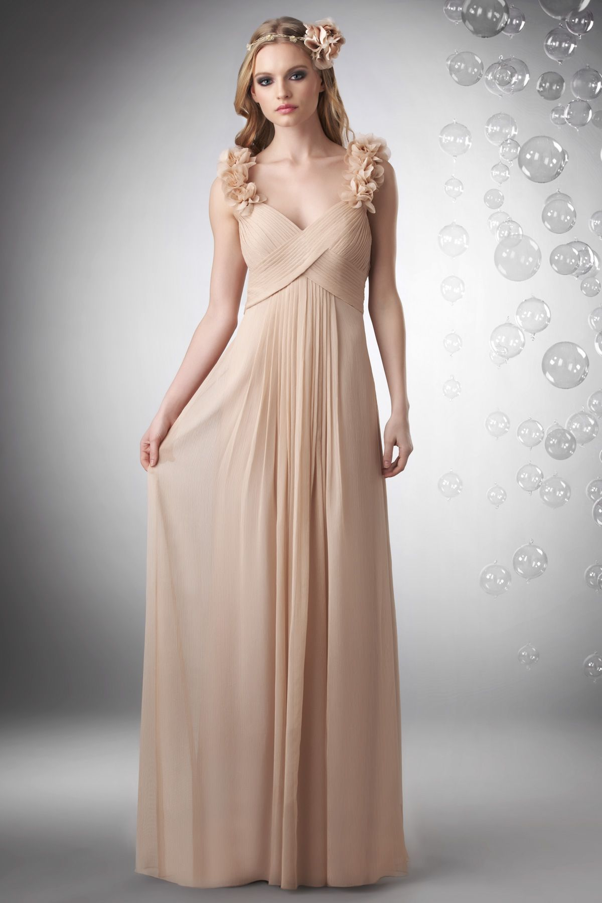 Bari jay 702 is so dainty with floral accents this long chiffon bari jay 702 is so dainty with floral accents this long chiffon bridesmaid dress is ombrellifo Choice Image