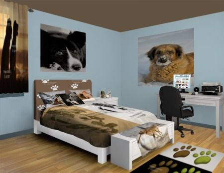 Dog Rugs | Custom Size Carpet Rugs | Area Rugs and Dog Themed Floor Mats in Many Sizes! at http://www.visionbedding.com/Rugs/Dog.php  #Home Decor,#Dog Rugs