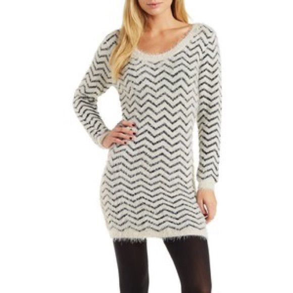 febf2e03257 Charlotte Russe fabulous fuzzy sweater dress New without tags! Sold out!  Hugs curves perfectly