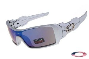 fa086c49f2 Replica Oakley Oil Rig Sunglasses Grey   Blue Iridium