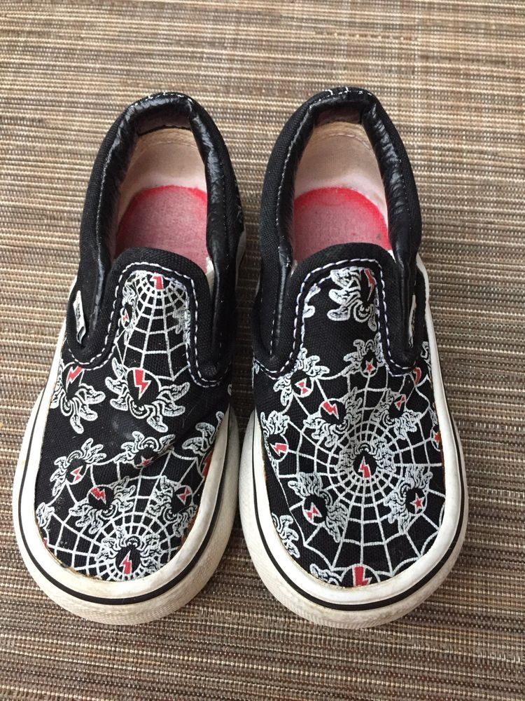 4a0fa64bf5 VANS shoes Toddler Boys Spiders Slip On Shoe Sneaker Black white Size 5 EUC   fashion  clothing  shoes  accessories  kidsclothingshoesaccs  boysshoes   ad ...