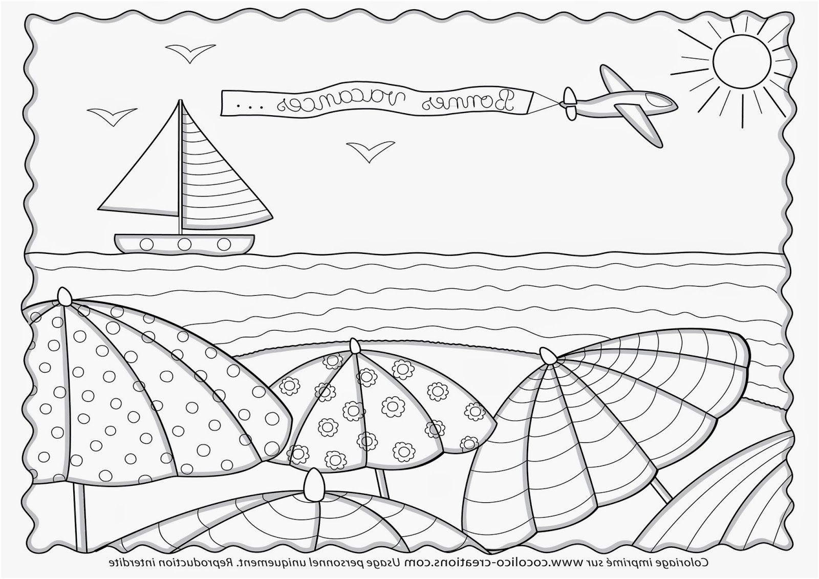 Plage Coloriage 15 Terrific Plage Coloriage Image Coloriage
