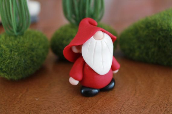 Polymer Clay Gnome Custom Color Gnome Miniature by GnomeWoods