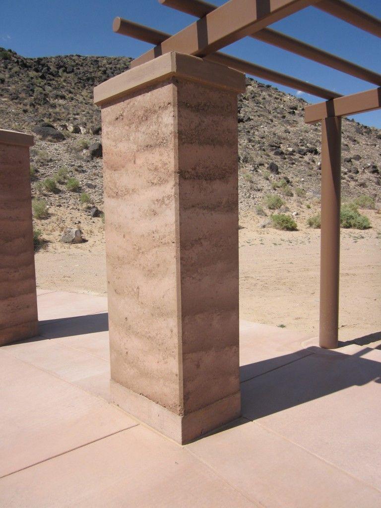 rammed earth column  terra battuta  Walls Fences and Gates in 2019