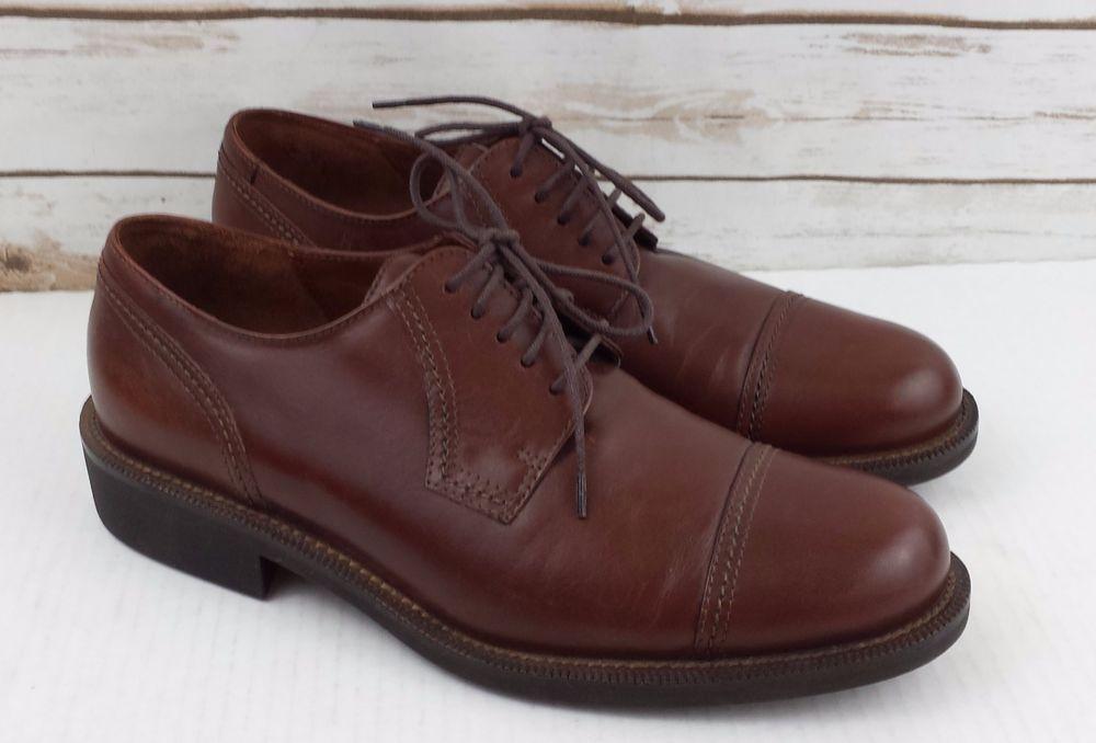Ecco Brown Leather Dress Shoes Men's Sz 11/45 Lace Up
