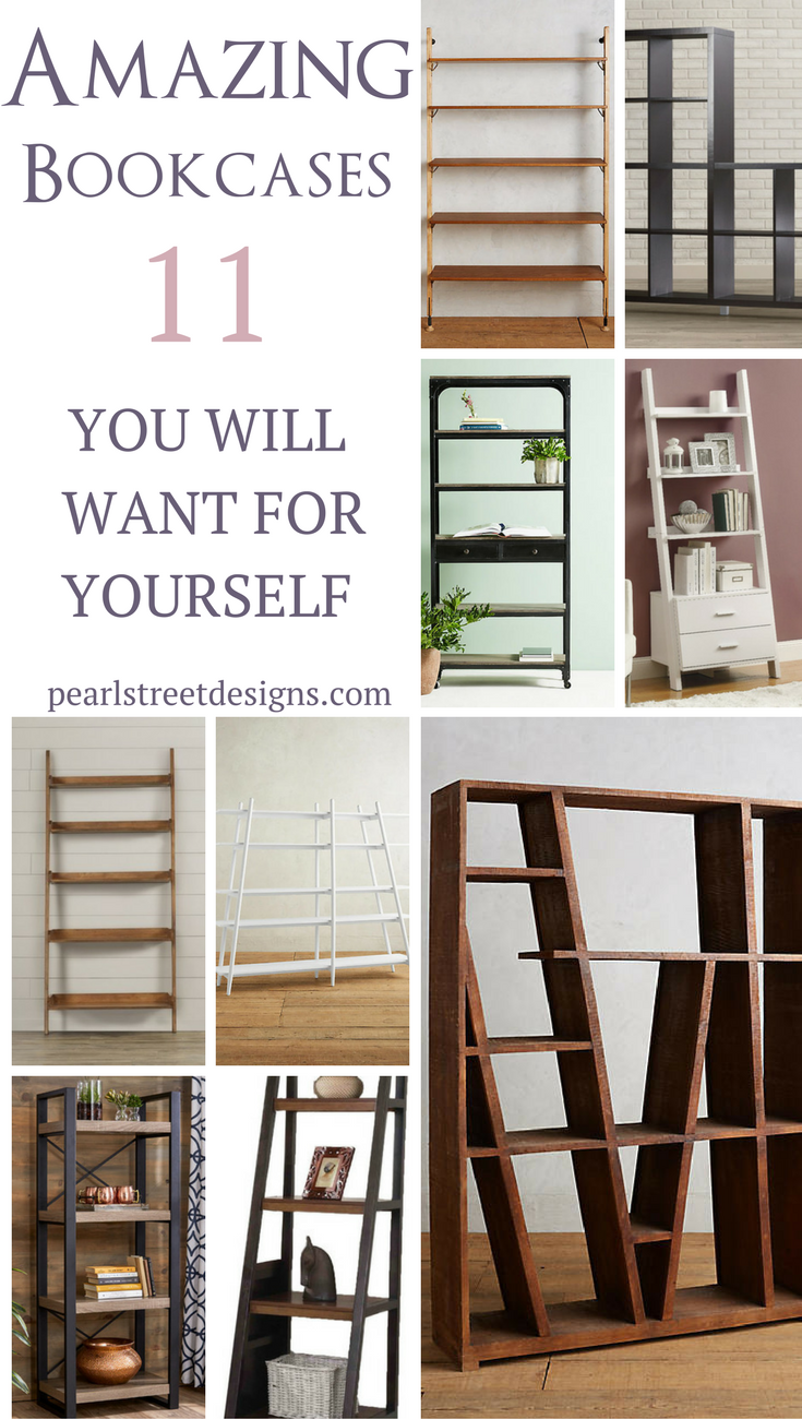 Amazing bookcases great for making small spaces look bigger