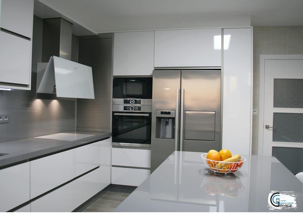 Fotos de Decoración y Diseño de Interiores - Cocinas Integrales Blancas