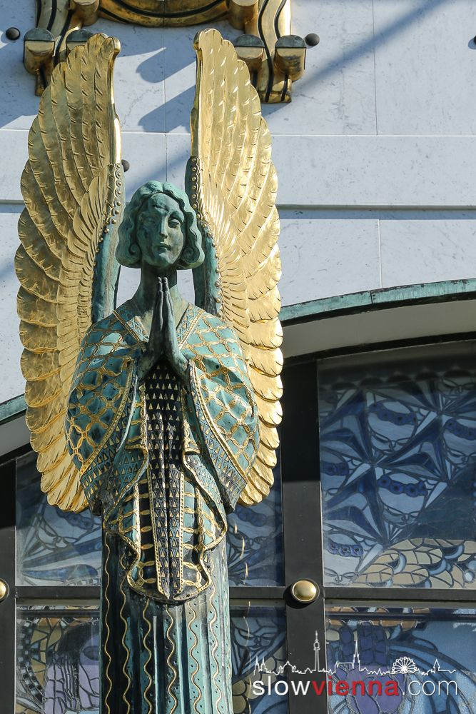 Angel, Kirche am Steinhof, Church by #OttoWagner in #Vienna, Austria The most beautiful church exterior in the world!