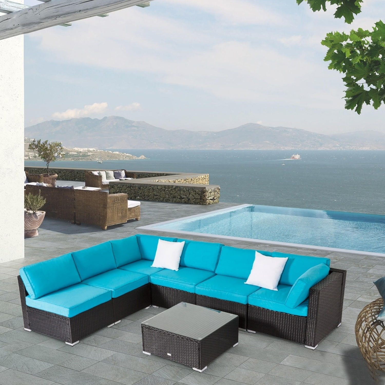 Kinbor 7 Piece Patio Furniture Set All Weather Outdoor Furniture