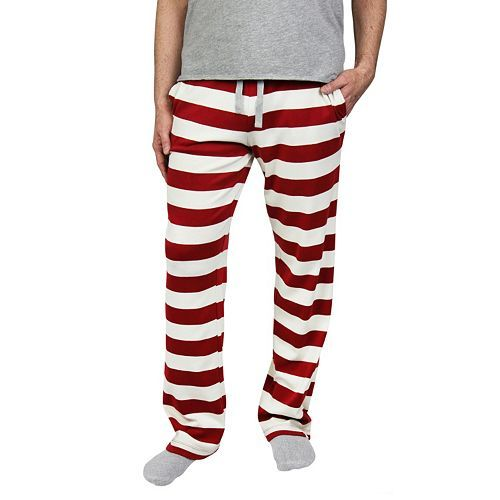 Men's Burt's' Bees Organic Family Pajamas Striped Lounge Pants ...