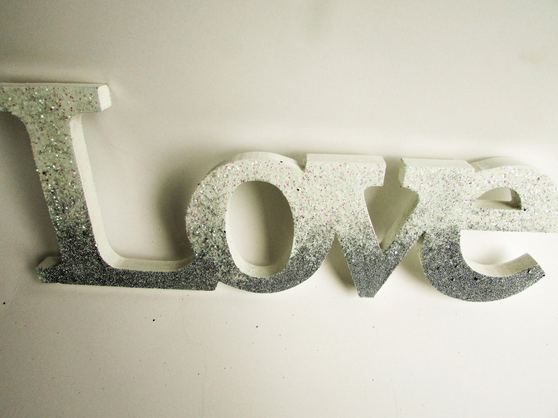 Love Letters  Love  Custom Letters  Custom Name Letter  Silver