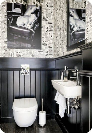 Love The Black Wainscoting Possibly With Black And White
