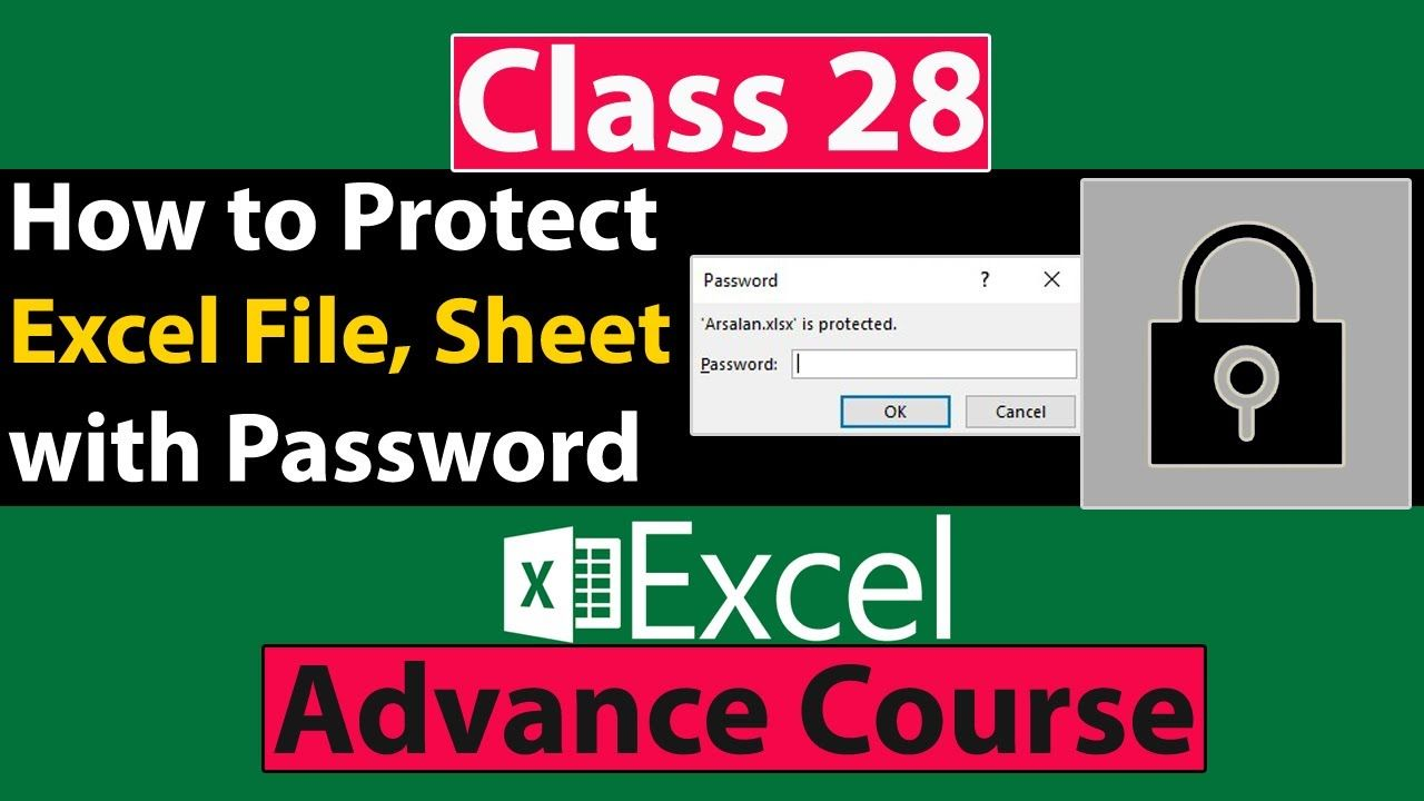 How To Protect Excel File Sheet And Workbook With Password In Excel In Urdu Hindi