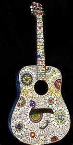 Stained Glass Mosaic Guitar