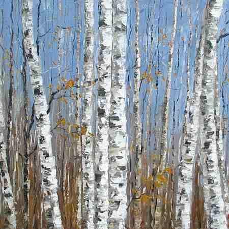 birch tree art | Birch Tree Gallery Original Art Pictures