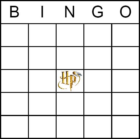 Harry Potter Bingo Board Bingo Cards Printable Bingo Card Template Blank Bingo Cards