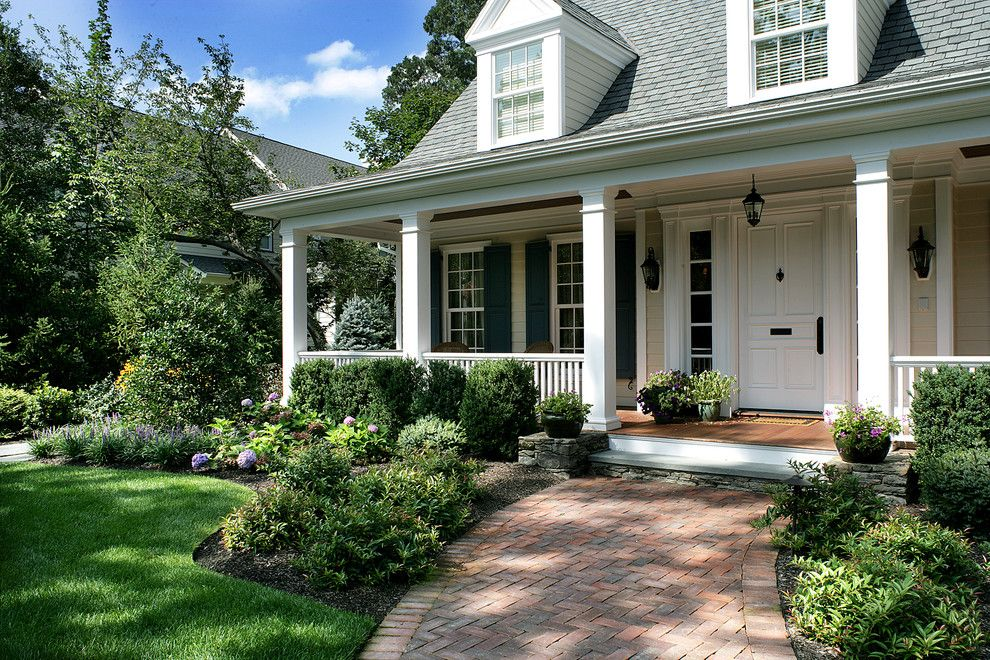 Front Yard Landscaping Ideas Porch Traditional With Classic Brick