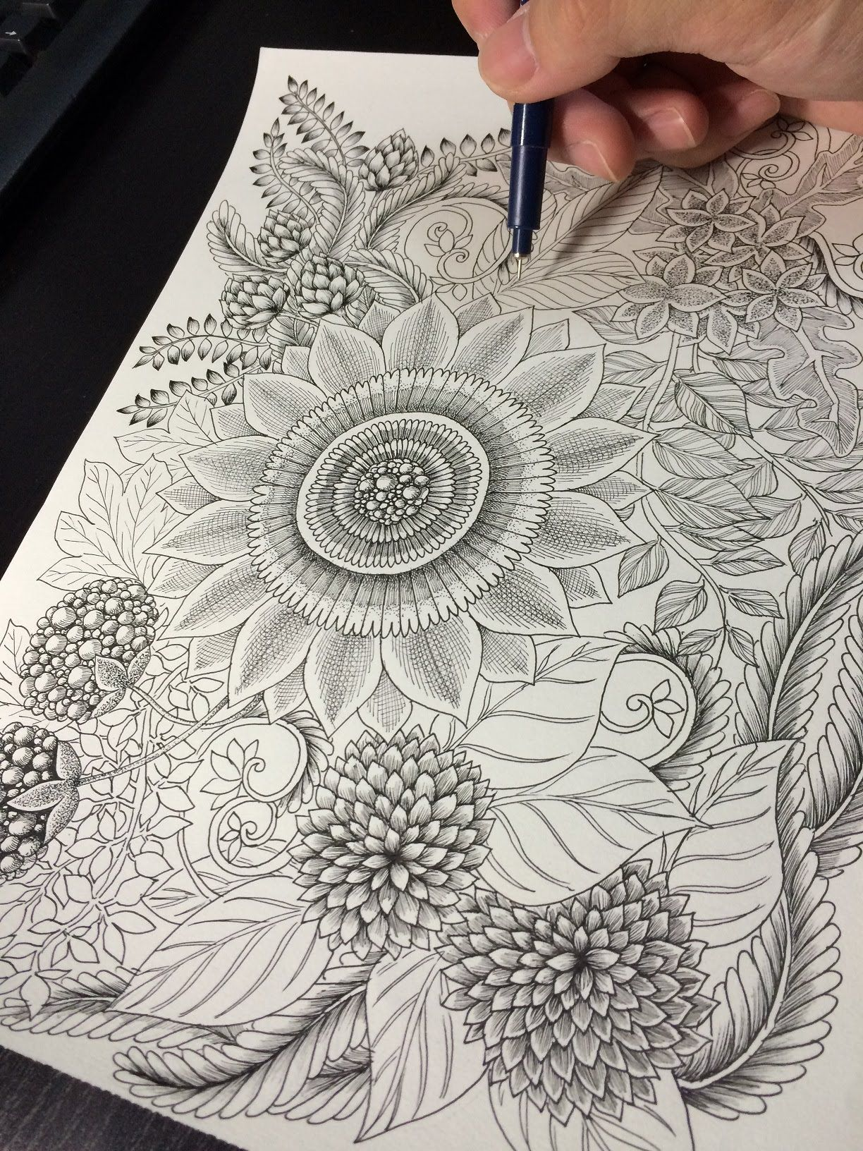 How To Draw Botanical Doodle Zentangle 12
