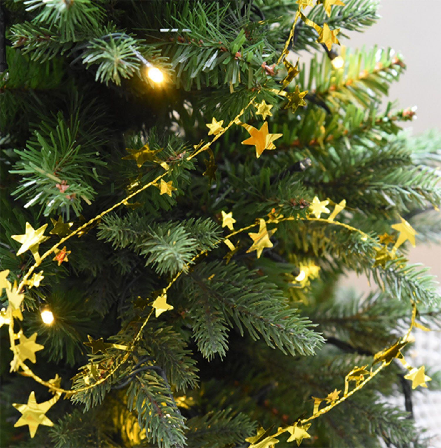 Christmas Garlands Star Pine Rattan Xmas Tree Hanging Ornament Home Decoration