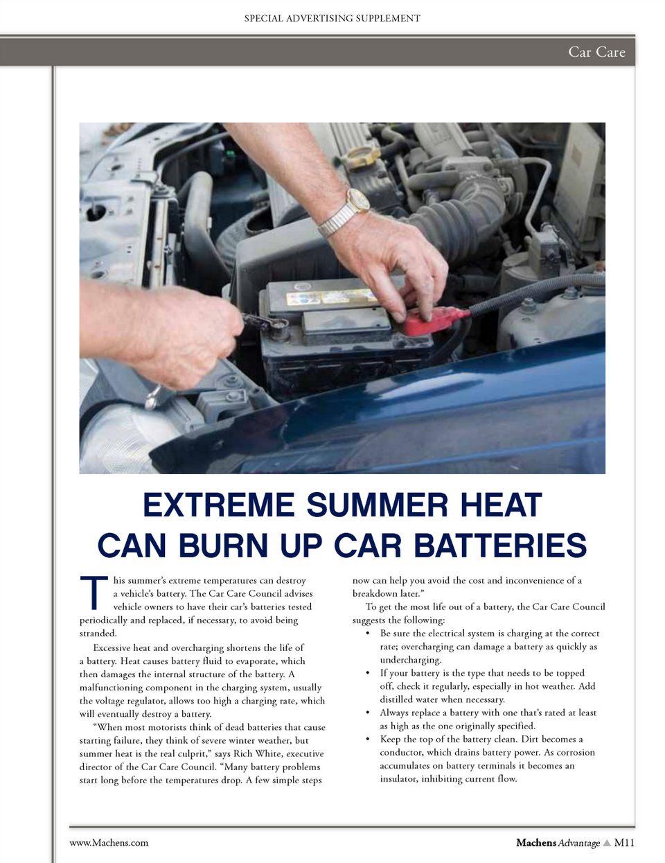 Machens Advantage July 2013 Page 11 Car care, Summer