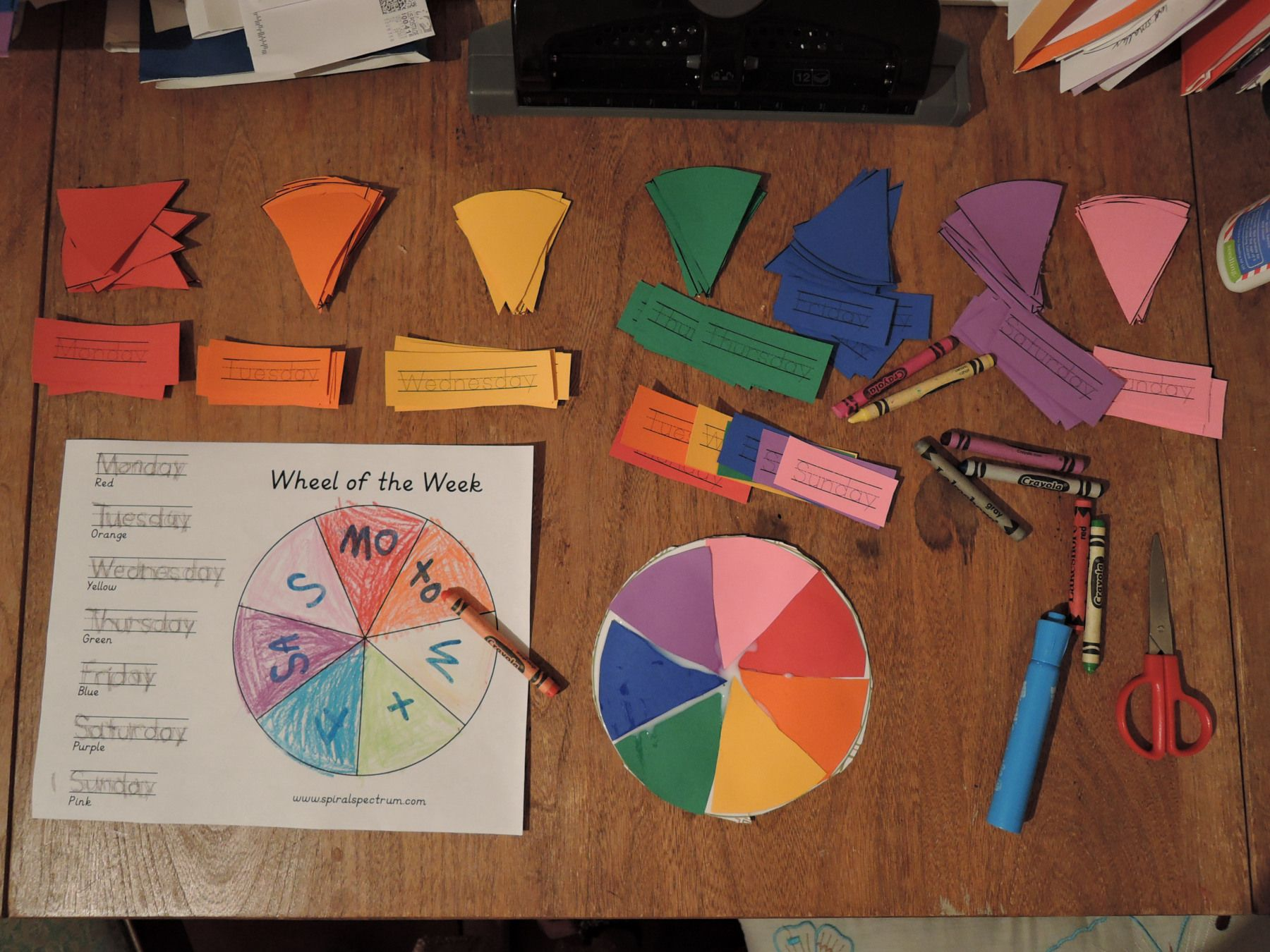 Wheel Of The Week Lesson For Kids With Video Tutorial