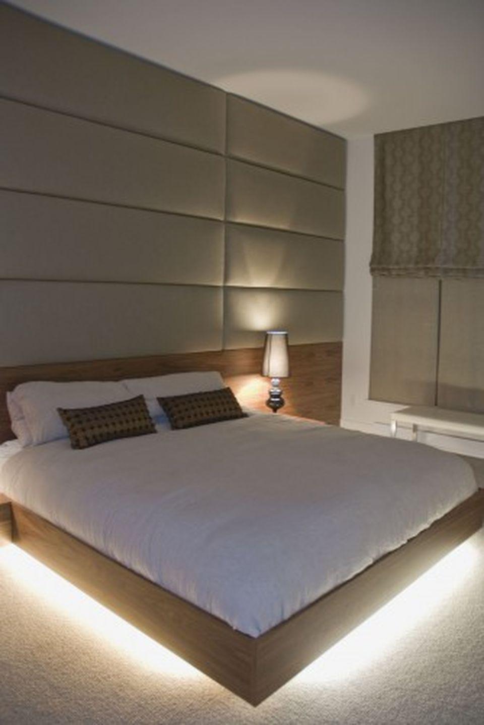 Amazing Modern Floating Bed Design With Under Light Hoommy Com Modern Bedroom Contemporary Bedroom Bed Design