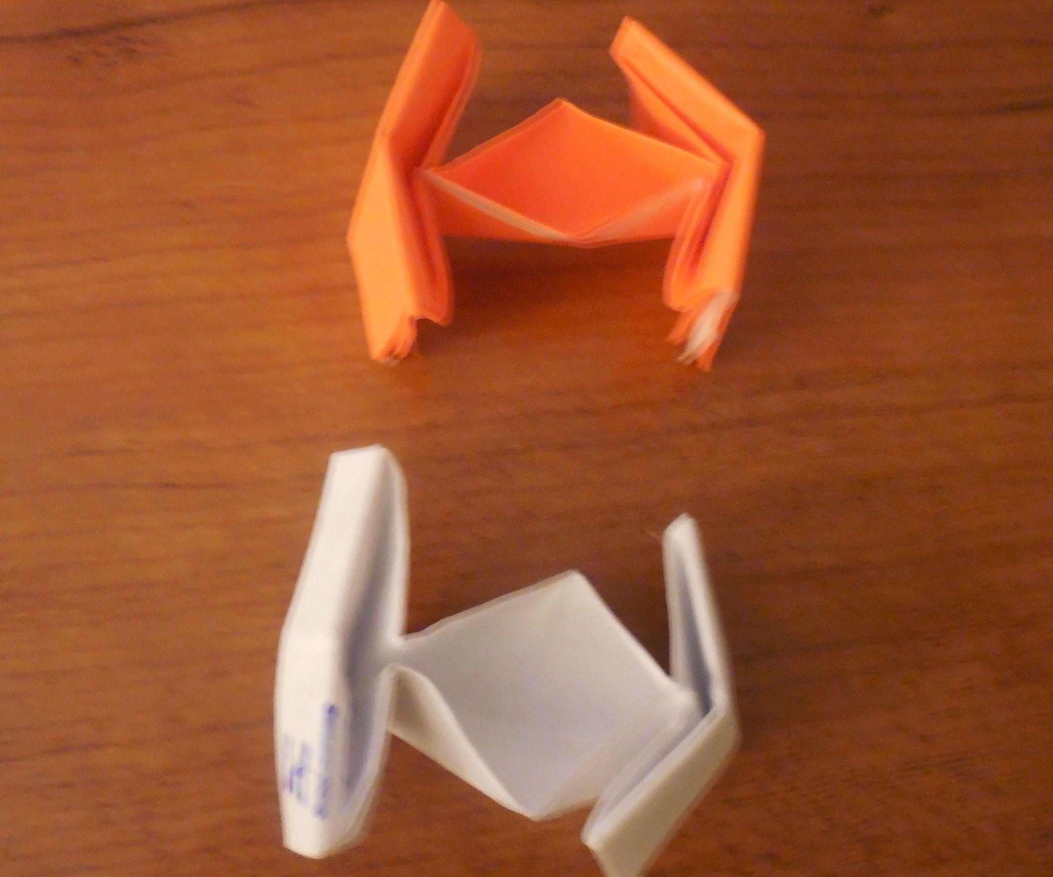 Origami star wars tie fighter easy version origami stars