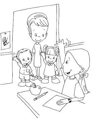 Niños iniciando clases. Para colorear y pintar.   De vuelta al ...