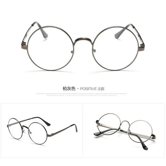 Unisex Clear Transparent Circle Round Glasses Nerd Glasses Mens