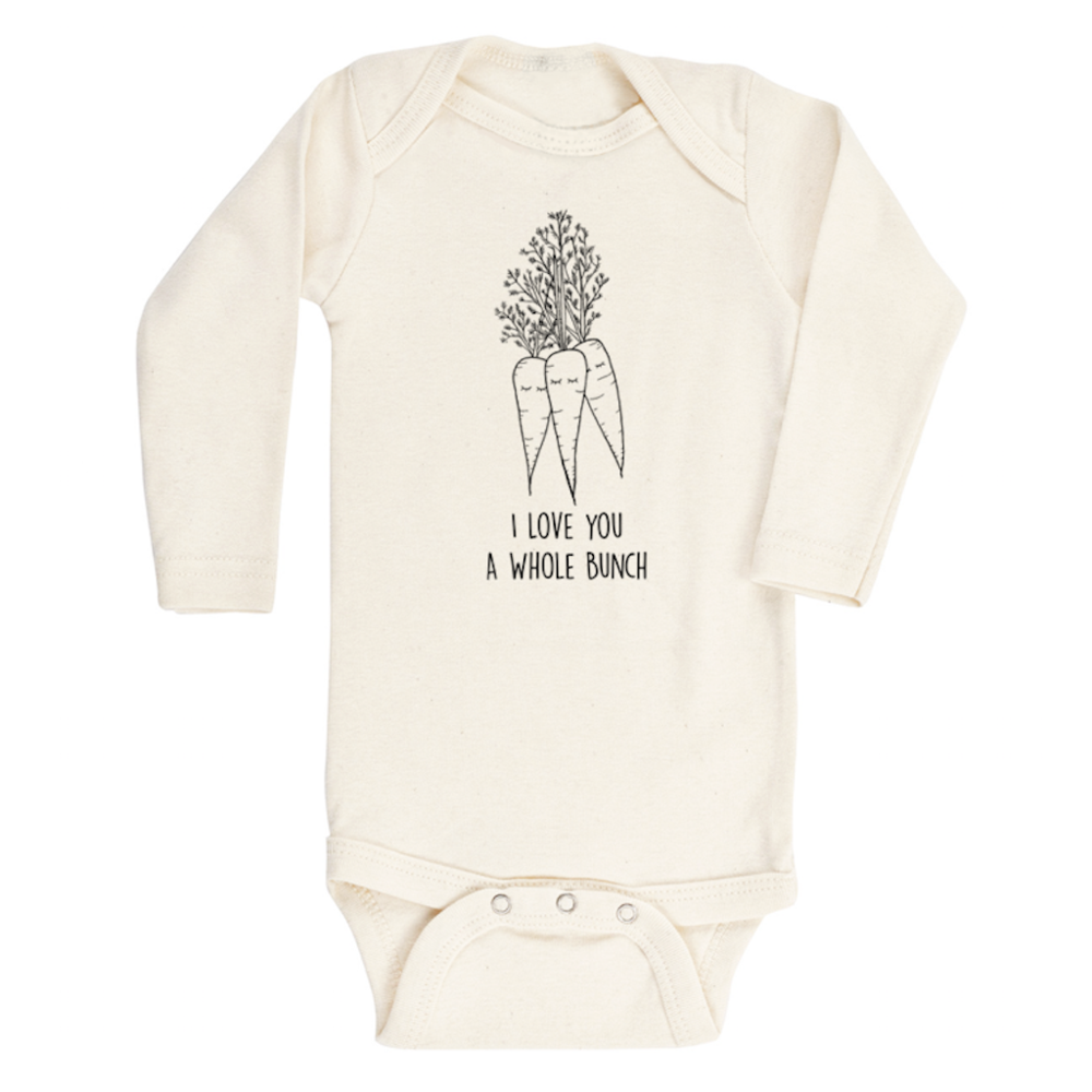 I Love You A Whole Bunch Organic Long Sleeve Onesie Carrots Baby Boy Girl Unisex Gen Organic Baby Onesie Organic Baby Clothes Gender Neutral Baby Clothes