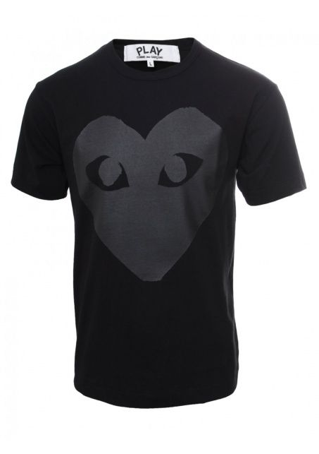 Comme Des Garcons Play Clothing Play Black Collection Mens Crew