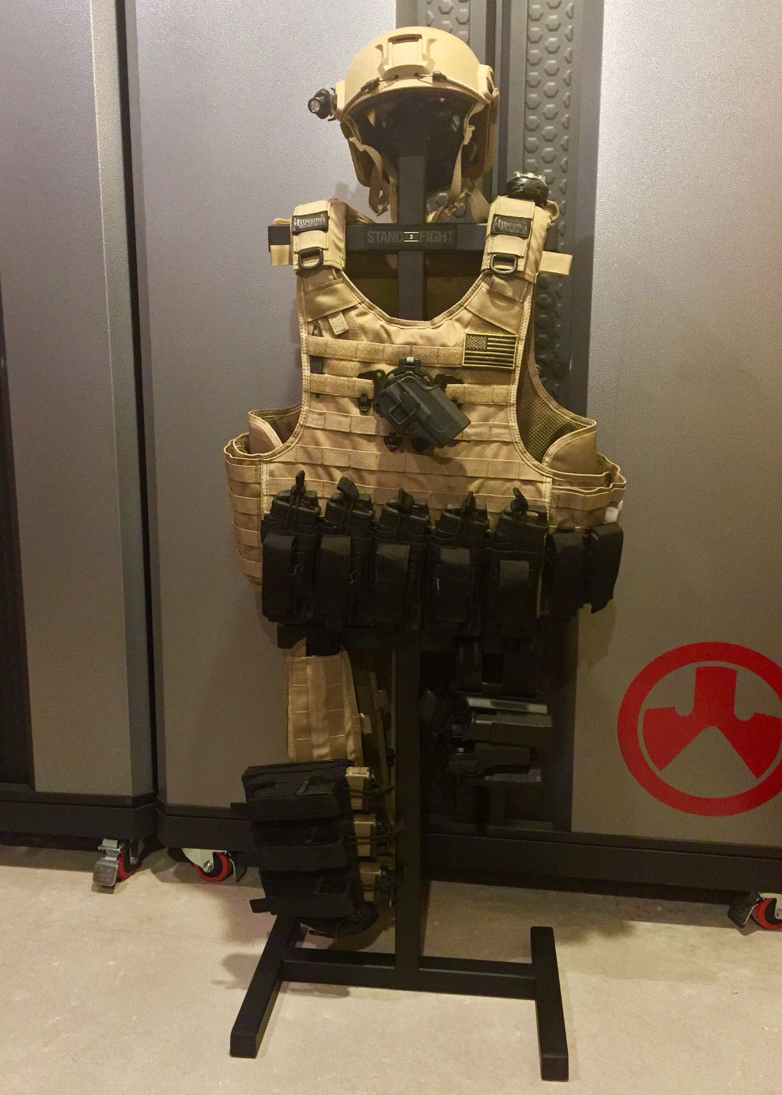 My DIY Tactical Gear Stand is slowly evolving. Watch for another stand and load out & My DIY Tactical Gear Stand is slowly evolving. Watch for another ...
