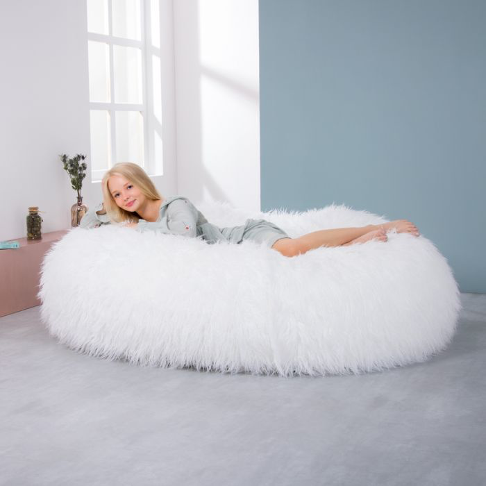 ICON® Yeti Giant TwoSeater Faux Mongolian Fur Beanbag
