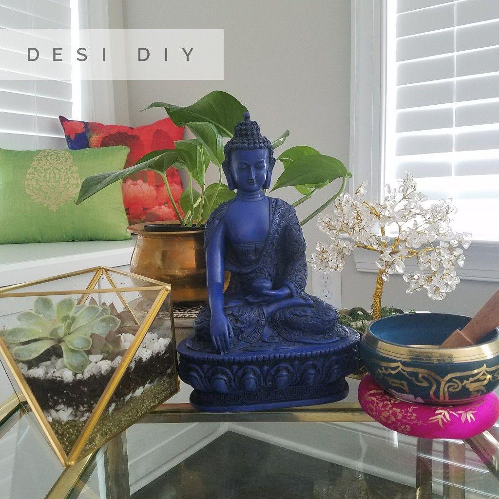 Diy Home Decor Indian Style Tutorial: Succulent Terrarium, Brass Home Decor, Buddha Decor, DIY
