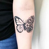 Photo of Idées de tatouage de papillon pour représenter Transformati … – Schmetterlings-Tattoo-Idee …