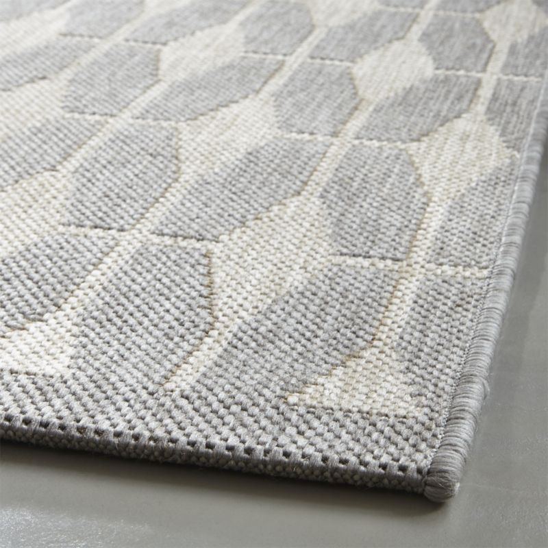 S&D DR Aldo Dove Grey Indoor-Outdoor 8'x10' Rug  $200| Crate and Barrel