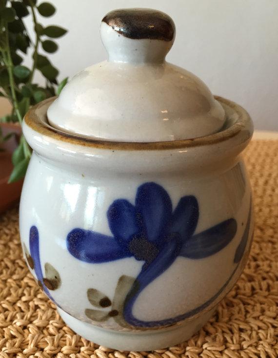 Small Stoneware Jar Ceramic Jar Small Jar With Lid Lidded