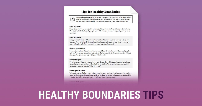 Healthy Boundaries Tips Worksheet Therapist Aid Healthy Boundaries Healthy Boundaries Worksheets Healthy Boundaries Relationships