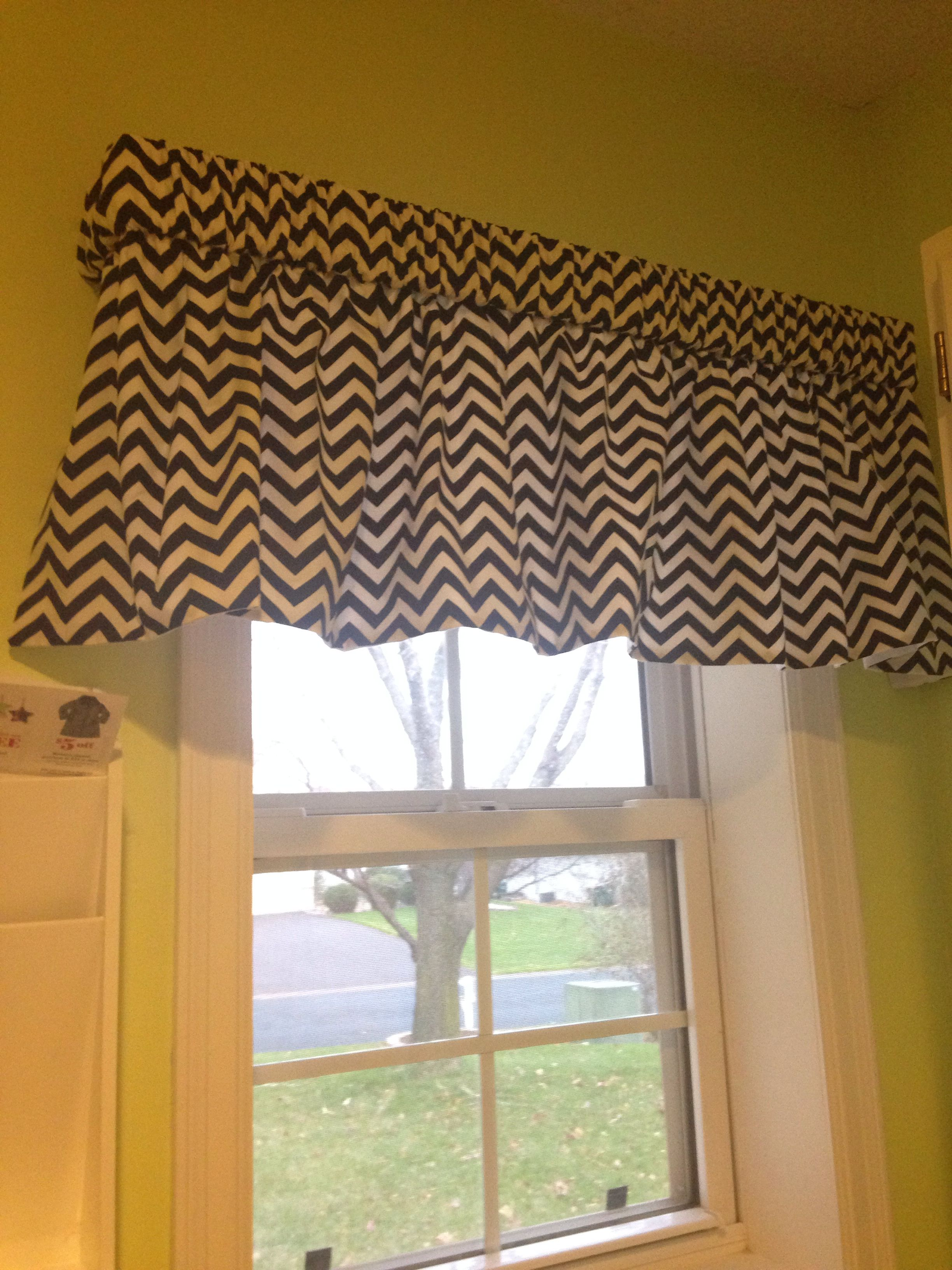 My Cute Valance We Mom Made For Laundry Room